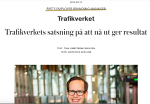 Trafikverket – Årets Employer Branding Manager